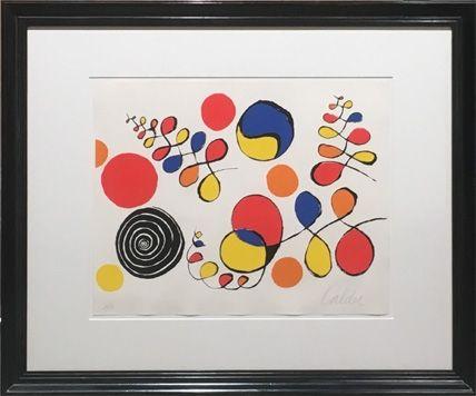 Lithographie Calder - Floating Helix