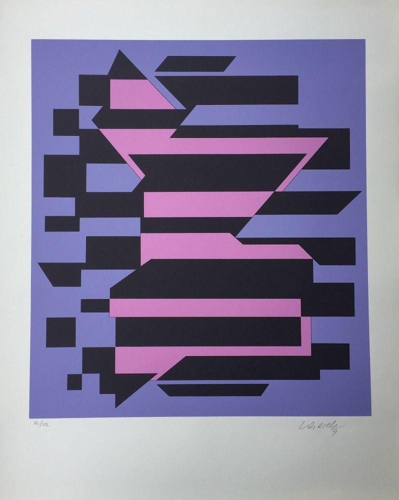 Siebdruck Vasarely - Flores