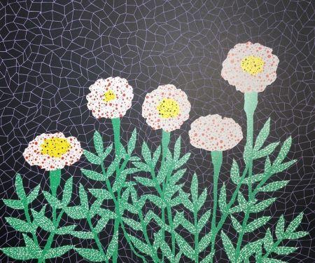 Lithographie Kusama - Flower