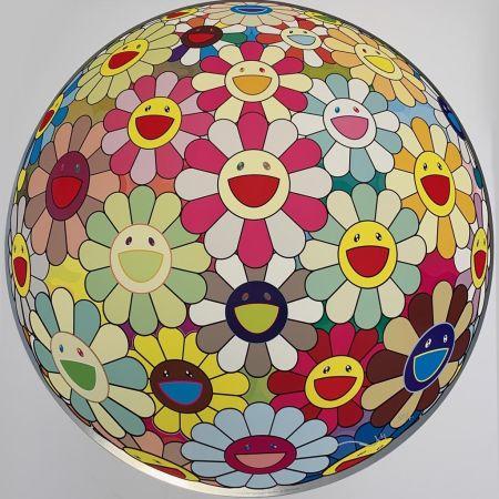 Siebdruck Murakami - Flower Ball Margaret (3D)