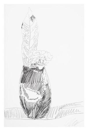 Siebdruck Warhol - Flower (Black & White)
