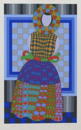 Multiple Vasarely - Flower Girl