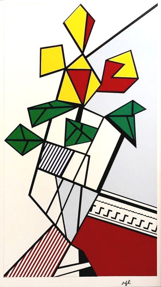 Siebdruck Lichtenstein - Flowers