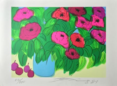 Lithographie Ting - Flowers