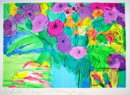 Lithographie Ting - Flowers 1