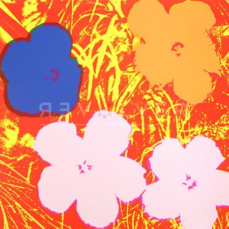 Siebdruck Warhol - Flowers 69