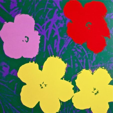 Siebdruck Warhol (After) - Flowers IV