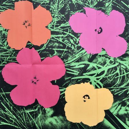 Keine Technische Warhol - 'Flowers (Leo Castelli Mailer)' 1964 Original Pop Art Poster
