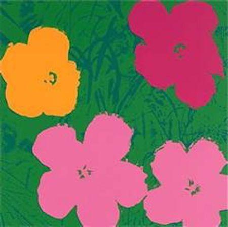 Siebdruck Warhol (After) - Flowers V