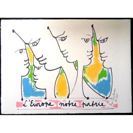 Lithographie Cocteau - Fondateurs de l'europe
