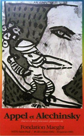 Plakat Alechinsky - '' Fondation MAEGHT '' - Avec Karel APPEL