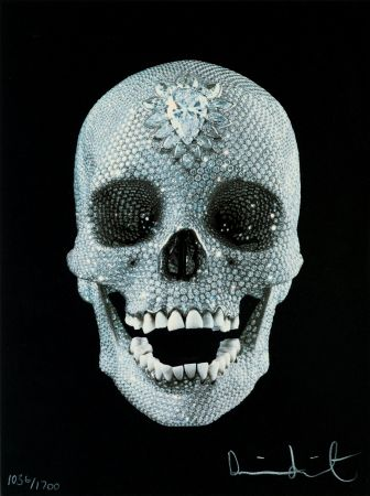 Siebdruck Hirst - FOR THE LOVE OF GOD,BELIEVE