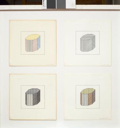 Siebdruck Lewitt - Forme dérivée d'un cube