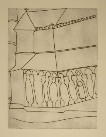 Radierung Nicholson - Fragment of Tuscan Cathedral
