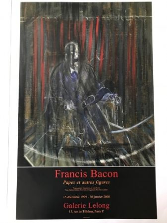 Plakat Bacon - Francis Bacon - Galerie Lelong Exhibition Poster - Screaming Pope