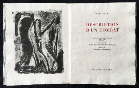 Illustriertes Buch Atlan - , Franz Kafka. DESCRIPTION D'UN COMBAT. Lithographies originales d'Atlan.