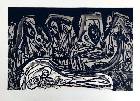 Lithographie Saura - Franz Kafka:  Diaries II