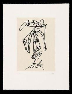 Radierung Und Aquatinta Saura - Frauen Portrait mit Hut 1