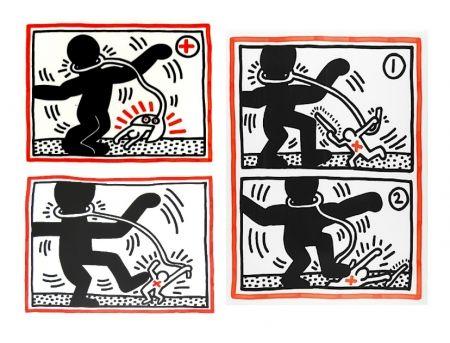 Siebdruck Haring - Free South Africa Series, set of 3