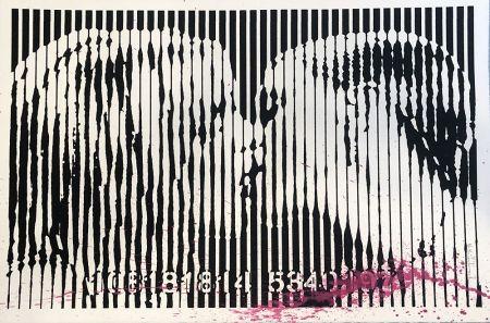 Siebdruck Mr Brainwash - Freedom Kiss (Pink Splash)