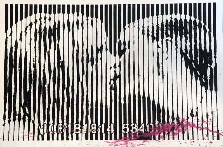 Siebdruck Mr. Brainwash - Freedom Kiss (Pink Splash)