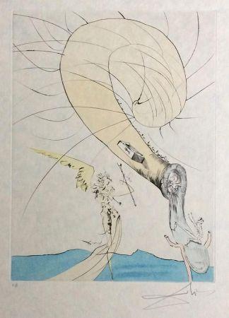 Stich Dali - Freud with Snail Head
