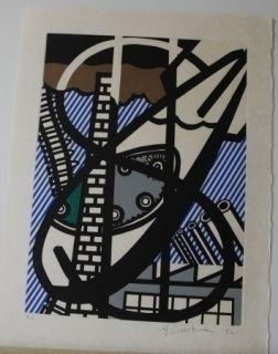 Radierung Und Aquatinta Lichtenstein - From la nouvelle chute de l'amerique