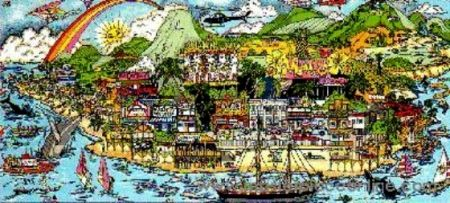 Siebdruck Fazzino - From Maui With Love