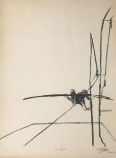 Lithographie Szafran - Funambule