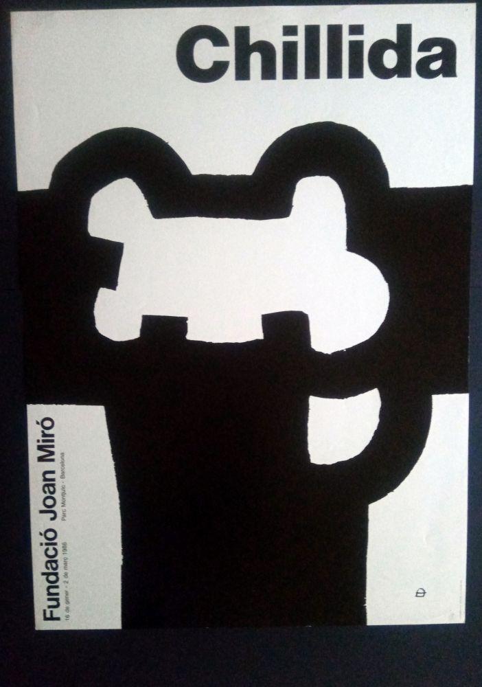 Plakat Chillida - Fundació Miró 1986