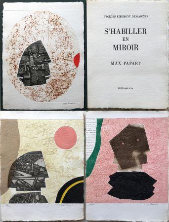 Radierung Und Aquatinta Papart - G. Ribemont Dessaignes : S'HABILLER EN MIROIR (1977).