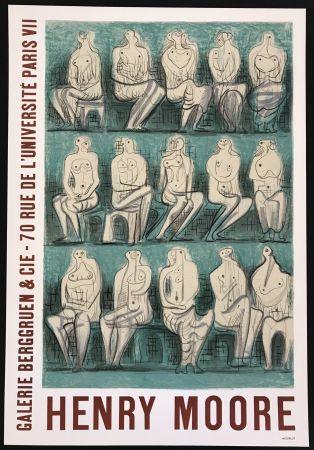 Plakat Moore - Galerie Berggruen & Cie (Seated Figures)