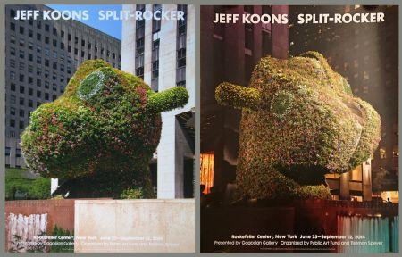 Plakat Koons - '' Galerie Gagosian '' NYC