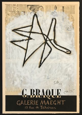 Lithographie Braque - Galerie Maeght