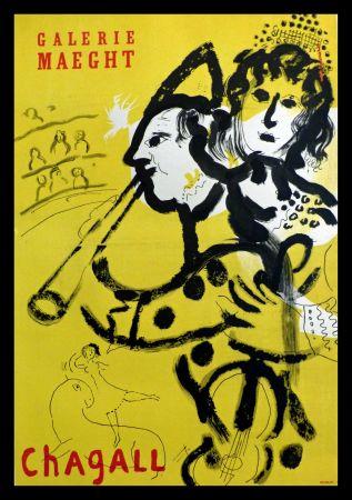 Plakat Chagall - GALERIE MAEGHT LE CLOWN MUSICIEN