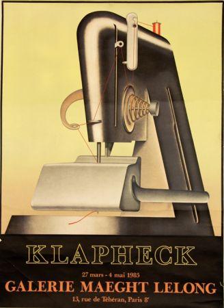 Lithographie Klapheck - Galerie Maeght Lelong