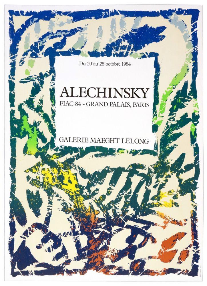 Plakat Alechinsky - Galerie Maeght Lelong, Alechinsky, FIAC 84, 1984