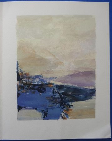 Lithographie Zao - Galerie Prouté 1990