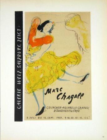 Lithographie Chagall - Galerie Welz Salzburg - Gouachen-Aquarelle-Graphik Bûhnenentwûrfe