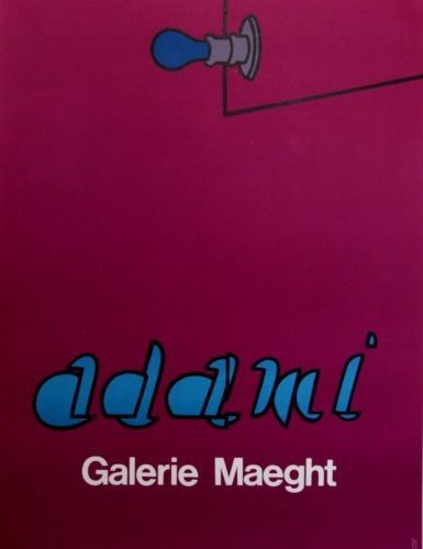 Lithographie Adami - Gallery Maeght