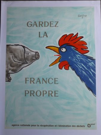 Plakat Savignac - Gardez la France propre