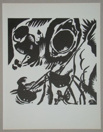 Holzschnitt Kandinsky - Garten der Liebe
