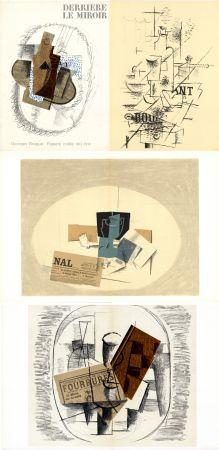 Illustriertes Buch Braque - GEORGES BRAQUE. Papiers collés 1912-1914. Derrière le Miroir n° 138. Mai 1963.