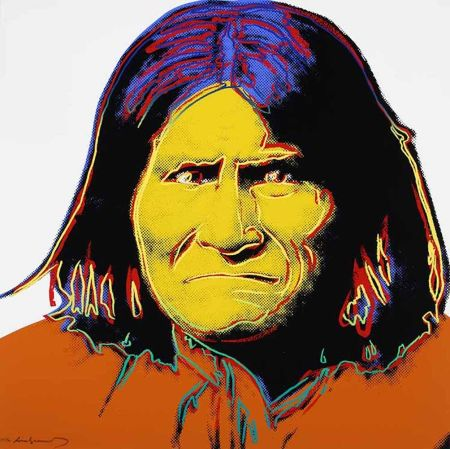 Siebdruck Warhol - Geronimo, from Cowboys and Indians