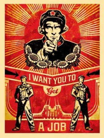 Siebdruck Fairey - Get a job