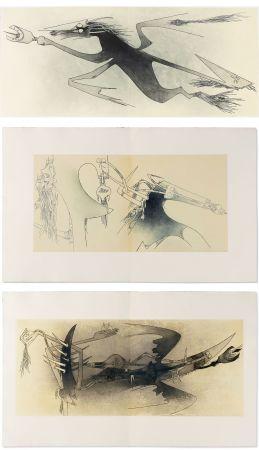 Illustriertes Buch Lam - Ghérasim Luca : Apostroph'Apocalypse. 14 eaux-fortes de Wifredo Lam (1967).