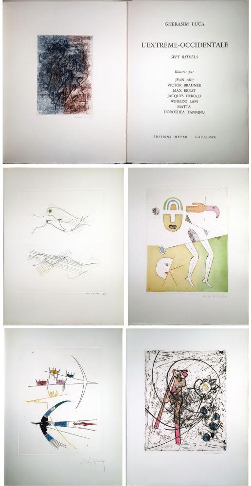Illustriertes Buch Ernst - Gherasim Luca : L'EXTRÊME-OCCIDENTALE. Gravures de Max Ernst, Victor Brauner, Dorotea Tanning, Hans Arp, Jacques Hérold, Wifredo Lam, Roberto Matta.
