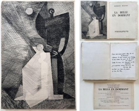 Illustriertes Buch Marcoussis - G.Hugnet : LA BELLE EN DORMANT. 1 des 10 avec l'eau-forte de Marcoussis (1933).