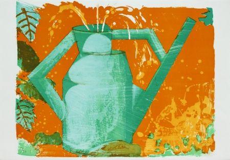 Lithographie Buri - Giesskanne