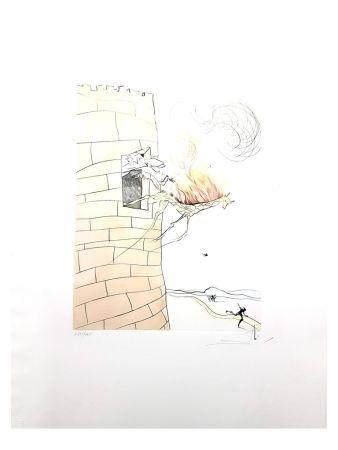 Lithographie Dali - Girafe en Flamme